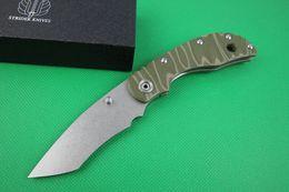 Wholesale Best D2 Folding Knife - Strider Night devil D2 balde titanium hanlde Luxury gift knife collection xmas gift knife Best Gift 1pcs freeshipping