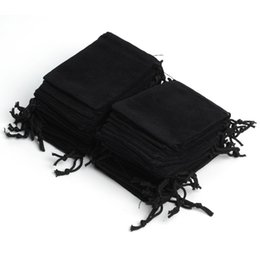 Wholesale Wholesale Pouches - Free Shipping 100Pcs 7x9cm Velvet Drawstring Pouch Bag Jewelry Bag,Christmas Wedding Birthday Easter Party Halloween Party Gift Bag