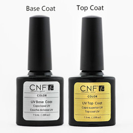 Wholesale Nail Polish Cnf - 6pcs lot CNF nail gel 7.3ml base coat + top gel polish soak-off gel nail polish UV nail gel polish up to 30days