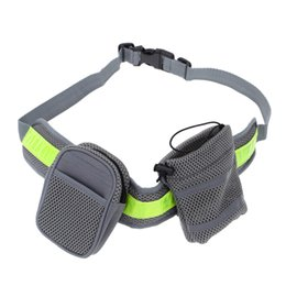 Wholesale Elastic Belt Strap - Soft Running Leash for Pets Dogs Elastic Hands-free Waist Belt Strap Traction Rope with Water Bottle Holder + Dog Treats Bag H15373
