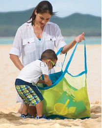 Wholesale Wholesale Bags For Sand - Hot Selling! Large sand away beach storage bag For child Sand Box Castle Toys Beach Balls