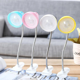 Discount small white led battery - New mini LED small clip book lights reading lamp distorted night light creative reading lamp bedside table lights
