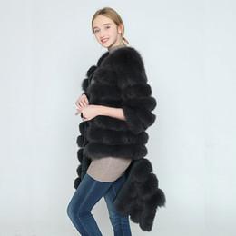 Argentina 2017 otoño de la chaqueta de las mujeres abrigo básico real natural de piel de zorro chaleco corto de color sin mangas de rayas flojas de alta calidad Suministro