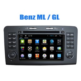 Wholesale Mercedes Ml Dvd - Qjuad Core Car Radio Navigation 7 inch Capacitive Screen for Mercedes Benz ML GL Android Car Dvd GPS with Bluetooth Wifi TV 3G iPod