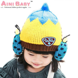 Wholesale Ladybug Hat For Baby - Ladybug Knitting Wool Kids Beanies Baby Infant Toddler Girl Cap For Boy Warm Hat Children Winter Hat Baby Thick Accessories