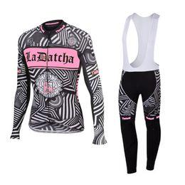 Wholesale Saxo Bank Pink - Tinkoff saxo bank 2016 pink long sleeve bib kits cycling jerseys sport wear cycling clothes pink mtb bike bicycle clothing women cycling set