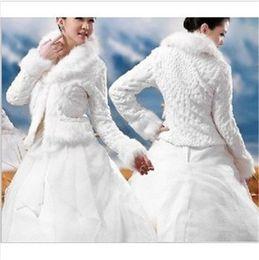 Wholesale Bridesmaids Shawls Wraps - New Faux Fur Bridal Shrug Wrap Cape Stole Shawl Bolero Jacket Coat Perfect For Winter Wedding Bride Bridesmaid Free Shipping Real Image00117