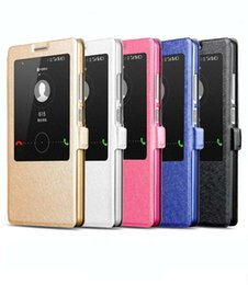Wholesale Huawei Ascend Honor Cases - Slim Smart View Auto Sleep Wake Up Function Leather Case Flip Cover Stand Holster For Huawei Ascend Mate 7 P7 P8 Honor 3X 4X Honor 6 6 Plus
