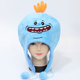 Wholesale Cotton Rope For Sale - Hot Sale 3pcs Lot 35*25cm Rick And Morty Winter Hat Plush Stuffed Doll Animals Cap Toys For Child Best Gifts