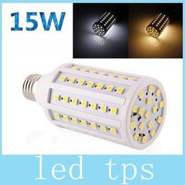 Wholesale High Lumens Leds - 15W 1400 lumens E27 E14 B22 SMD LED corn bulb lights 86pcs 5050 LEDS warm cool white high power 110V or 220V
