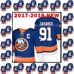 Wholesale John Tavares Jersey - 2017-2018 New New York Islanders 91 John Tavares Jersey 18 Men's 91 John Tavares Hockey Jerseys Embroidery