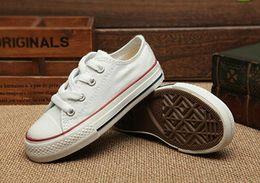 Wholesale Shoes Cute Tops - kids shoes Boy&girl Children's Canvas Shoes kids Cute Leisure Sports Shoes low & high top Rubber Bottom 7 colors size 23-34