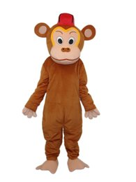 Wholesale monkey mascot costume adult - Factory Outlets Brand New Clown brown Monkey doll Fancy Dress Cartoon Adult Animal Mascot Costume free shipping