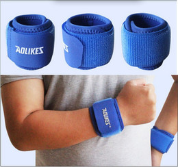 Wholesale Grey Lifts - Best NEOPRENE Hand Wrist Brace Protector Support Pad Wrap For Weight Lifting Exercise Tennis Gym Sports Black Blue 4 Color Available
