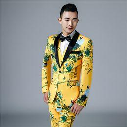 Chaquetas + Pantalones + Chalecos Trajes de lujo para hombres Novio Vestido  de padrino Traje de negocios Pantalones Hombres de boda Verano Slim Fit  Baile ... 2b474012890
