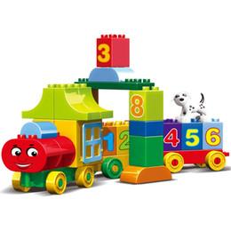 Blocos de grandes blocos on-line-50 pcs Grandes partículas Números Blocos de Construção de Tijolos Tijolos Educacionais Bebê Cidade Brinquedos Compatíveis Com LegoINGly Duplo