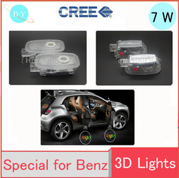 Wholesale Door Step Logo Led Light - 2 pieces for Mercedes Benz S LED Logo Door Courtesy Step Ghost Lights Projection Lamp Shadow light Welcome light