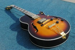 Wholesale Guitar 335 Sunburst - Factory Free shopping factory custom High quality New Arrival sunburst color Classic 335 Jazz Guitar Gold Hardware 1110