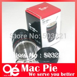 Wholesale Coffee Cup Key - Free Shipping Hot Camera EF 24-105mm Lens Mug Mini Coffee Cup Cute Drink key chain