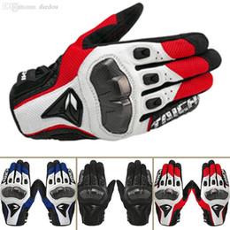 motos de carreras guantes taichi Rebajas Al por mayor-alta calidad RS TAICHI guantes de moto de carreras off-road guantes de carretera guantes de fibra de carbono guantes de cuero de piel de oveja
