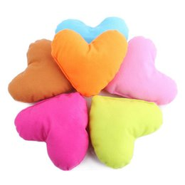 Wholesale Love Hearts Bedding - Cute Colorful Love Small Dog Pillow PP Cotton Padded Heart Shaped Pillow For Pet Toys Soft Plush Dog Bed Puppy Kennel Pillow