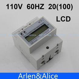 Wholesale Digital Watt Hour Meter - 20(100)A 110V 60HZ DDS238-4 Single phase Din rail KWH Watt hour din-rail energy meter LCD