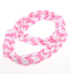 Wholesale Girls Infinity Scarves Wholesale - Hot SALE ! New Spring Chevron Infinity Scarf Girls Cotton Infinity -women Adult Zig Zag chevron Scarf 5 pcs  lot