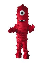 Wholesale Muno Adult Costume - Factory Outlets new arrive fashion red Muno Halloween Fancy Dress Cartoon Adult Animal Mascot Costume free shipping