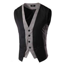 Wholesale Men Suit Garment - Wholesale-free shipping Men's casual men's British style suit vest British style gilet Leisure sleeveless garment waistcoat