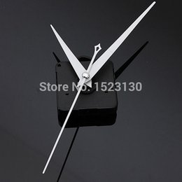 Wholesale Diy Clocks Movements - White Triangle Hands DIY Quartz Black Wall Clock Movement Mechanism Repair Part FREE SHIPPING