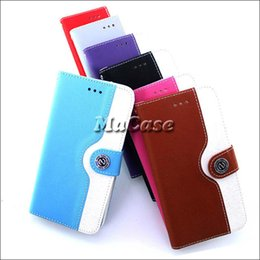 Wholesale Style Galaxy S4 Cases - Fashion Style For iphone 4 4S   5 5S   5C   6   6 plus Samsung galaxy S3 S4 S5 Note 3 Wallet Flip Leather Case Cover With Credit Card Holder