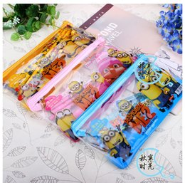 Wholesale Stationery Pencil For Children - Descaple me Minions stationery set for Students children stationery Minions Pencil Cases Minions Bags Minions Ruler Minions Pencils