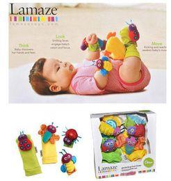 """Wholesale Baby Girls Toys - Baby lamaze high-contrast garden Bug wrist """"kaka"""" girl boys and girls ladybug bee toy gifts"""