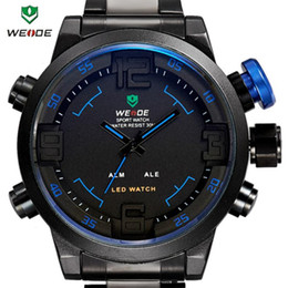 Wholesale Weide Wristwatches - Wholesale-4 Colors 2015 WEIDE Fashion Sports Watches Men Military Watch LED Digital Analog Wristwatches High Quality Quartz Watch