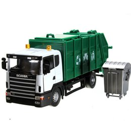 Wholesale Wholesale Garbage Trucks - NEW 19*6*8cm Scania truck garbage truck waste truck eco-friendly car transport vehicle model toy as gift for boy children TY1178