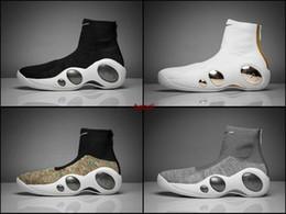 Wholesale Increase Knitting - 2018 Flight Bonafide 95 Shake Ndestrukt SE Mens Basketball Shoes Sports Sneakers Basket Ball Shoes Knitting Mesh Multicolor Black White Grey