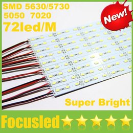 Wholesale Led For Jewelry Display - Super Bright Hard Rigid LED Bar Light DC12V 100cm 72led 1M SMD 5630 5730 7020 5050 Aluminum Alloy Strip Lights For Cabinet Jewelry Display