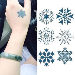 Wholesale Temporary Snowflake Tattoos - New Fashion Design Temporary Tattoos Body art Tattoo Stickers cartoon waterproof styles snowflakes