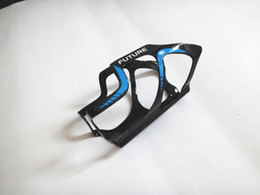 Gabbia di bottiglia blu di carbonio online-Portabottiglie portaborraccia per bici in fibra di carbonio, materiale in fibra di carbonio