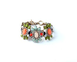 Wholesale Beach Clothes Factory - Women Leisure Clothing Accessories Personality Mixed Color Crack Brand Bracelets Factory Wholesale bracelet enamel accessories beach