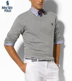 Wholesale Polo Xl Sweater - Wholesale-autumn sweater men New 2015 famous brand pullover men polo sweater Camisola homens sueter de hombres vestidos blusa masculina