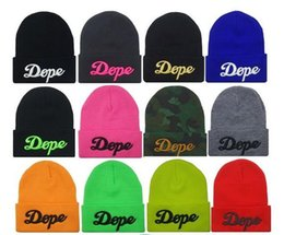 Wholesale Hiphop Skull Cap - 3D Pattern Hiphop Beanies For Women Girl Unisex Dance Street Hats Wool Knitting Skull Caps Hat