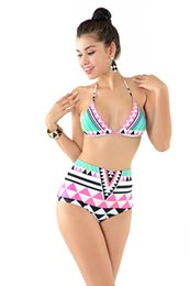 Wholesale Cheap Two Piece Swimsuits - Fashion Women Swimwear Spandex Material Cheap Two Piece Swimsuits Nine Style Choose Beachwear for Women New Arrival