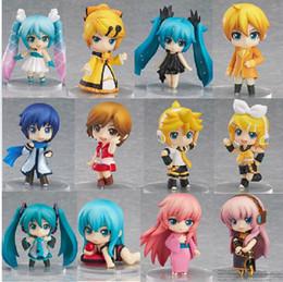 Wholesale Vocaloid Rin Figure - 12pcs set Vocaloid Hatsune Miku Family Rin Len Ruka Kaito Meiko Anime Figure doll Toys with box