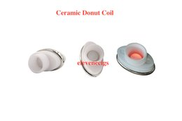 Wholesale Electronic Cigarette Elips Atomizer - 2016 full ceramic dual ceramic donut atomizer coil for elips micro gpen cloud pen ceramic electronic cigarette 0.5-0.7ohm for Box Mod