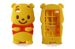 Wholesale Cute Winnie Pooh - 3D Cute Cartoon Winnie Pooh Soft Rubber Silicone Case For iPhone 5 6 6S Plus Samsung S5 S6 MOTO G2 G3 LG Pro Lite D680 G3 Stylus D690
