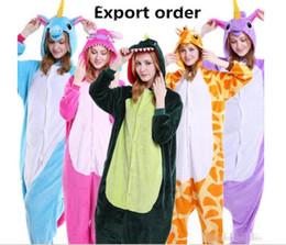 Wholesale Adult Costumes Owl - Fashion Kids Adults Animal Pajamas Unicorn Bear Stitch Skull Pig Dinosaur Zebra Panda Owl Tigger Pikachu Rabbit Cosplay Sleepwear Costumes