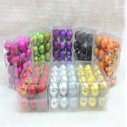 Wholesale Bright Shorts - 2017 New Bright Photosphere Christmas Ball 3cm 24 Plastic Christmas Balls Decorated Xmas Tree For Christmas Decoration 8 color