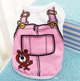 Wholesale Lovely Coats - Comfortable Dog Clothes Many Styles For Lovely Pet Vest Stripe Printing Soft Pets T Shirt Breathable 5 5gg C