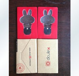 Wholesale Cute Shaped Lamps - Mini Ultra-thin cute Rabbit Shape Folding LED Card Lamp Pocket LED Credit Card Light Kids Christmas LED toys games